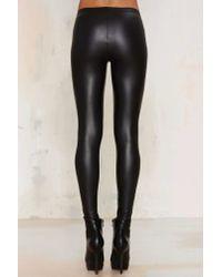 Nasty Gal - Black Real Slick Coated Leggings - Lyst