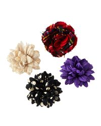 Edward Armah - Multicolor Mixed 4-Pack Of Boutonnieres - Lyst