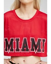 Forever 21 - Red Miami Heat Jersey Top You've Been Added To The Waitlist - Lyst