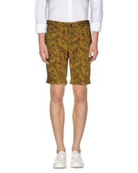 PT01 - Yellow Bermuda Shorts for Men - Lyst