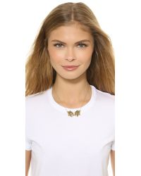 KENZO | Metallic Double Tiger Necklace - Gold | Lyst