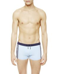 La Perla | Blue Square-leg Swim Shorts for Men | Lyst