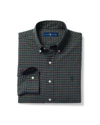 Polo Ralph Lauren - Green Plaid Cotton Oxford Shirt for Men - Lyst