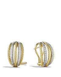David Yurman | Yellow Lantana Earrings With Diamonds In Gold | Lyst