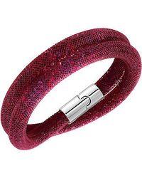 Swarovski | Red Crystal Accented Stardust Bracelet | Lyst
