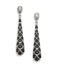 John Hardy | Metallic Naga Black Sapphire & Sterling Silver Drop Earrings | Lyst