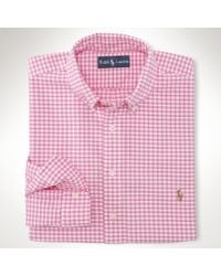 Polo Ralph Lauren | White Classic Gingham Oxford Shirt for Men | Lyst