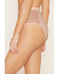 Forever 21 - Natural High-Waisted Mesh Bikini Bottoms - Lyst