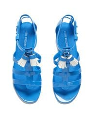 Love Moschino Blue Women'S Tassel Jelly Sandals