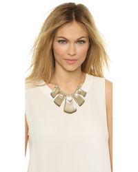 Alexis Bittar | Gray Baguette Spiked Bib Necklace - Warm Grey | Lyst