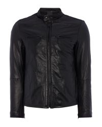 Replay | Black Leather Jacket for Men | Lyst
