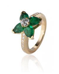 De Grace | Metallic Emerald Etoile Ring | Lyst
