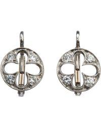 Cathy Waterman - Multicolor Diamond Open Flower Earrings - Lyst