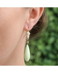 Sylva & Cie - Metallic Lemon Chrysoprase Mammoth Drop Earrings - Lyst