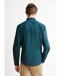 Forever 21 | Green Checked Plaid Shirt for Men | Lyst