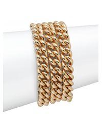 1ar | Metallic Three-row Curb Chain Bracelet | Lyst