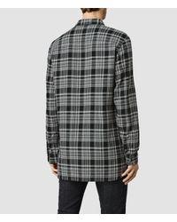 AllSaints - Black Spradlin Shirt Usa Usa for Men - Lyst