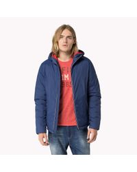 Tommy Hilfiger - Blue Nylon Hooded Jacket for Men - Lyst