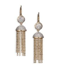 Phillips House | Metallic Affair Diamond & 14K Yellow Gold Tassel Earrings | Lyst