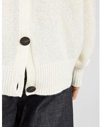 JOSEPH | White Spring Cashmere V Neck Cardigan Sweater | Lyst