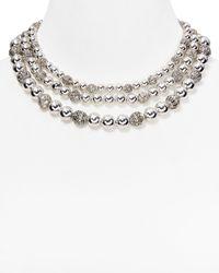 Lauren by Ralph Lauren - Metallic Beaded Delight 3 Row Collar Necklace 14 - Lyst