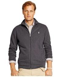 Polo Ralph Lauren | Black Big & Tall French-rib Full-zip Jacket for Men | Lyst