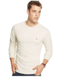 Tommy Hilfiger | Natural Hopkins Colorblocked Crew-neck Shirt for Men | Lyst