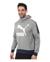 PUMA | Gray Cowl Neck Hoodie for Men | Lyst