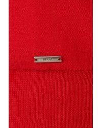 HUGO - Red 'seviror' | Virgin Wool Colorblock Sweater for Men - Lyst