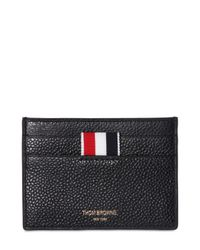 Thom Browne | Black Pebble-grain Leather Cardholder for Men | Lyst