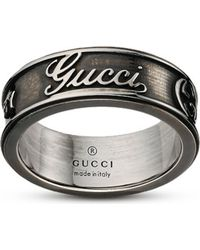 Gucci | Metallic Craft Sterling Silver Ring - For Women | Lyst