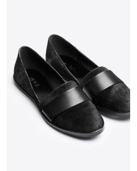 VINCE | Black Mason Calf-Hair and Leather Loafers | Lyst