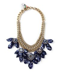 Sveva Collection | Blue Embellished Chunky Necklace | Lyst