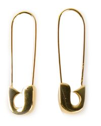 Lauren Klassen | Metallic Safety Pin Earrings | Lyst