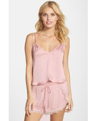 Band Of Gypsies | Pink Double Strap Cami | Lyst