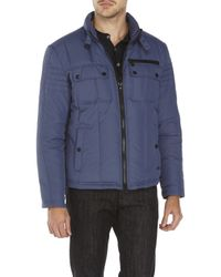 Kenneth Cole - Blue Quilted Hipster Jacket for Men - Lyst