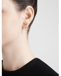 Yvonne Léon - Metallic Diamond Foliage Lobe Earring - Lyst