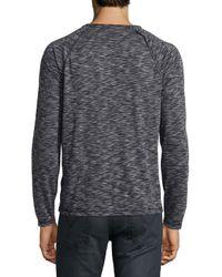 John Varvatos | Black Space-dyed Raglan Long-sleeve Sweater for Men | Lyst