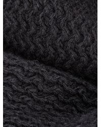 AMI | Black Textured Knit Scarf for Men | Lyst