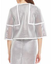 Raoul - Gray Mesh Zip-up Jacket - Lyst