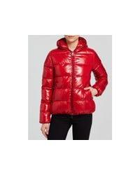 Duvetica | Red Thiacinque Hooded Down Coat | Lyst