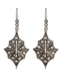 Cathy Waterman | White Star Drop Earrings | Lyst
