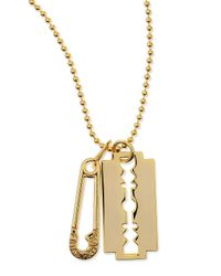 McQ | Metallic Goldtone Pendant Necklace | Lyst