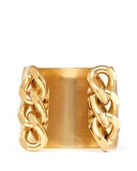 Ela Stone | Metallic Chain Brass Cuff | Lyst