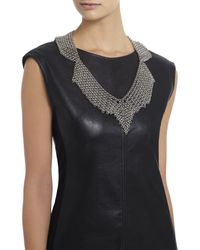 BCBGMAXAZRIA | Metallic Chainmail Collar Necklace | Lyst