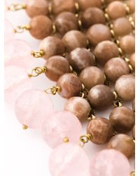 Rosantica - Pink Beaded Collar Necklace - Lyst