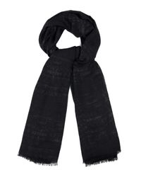 Fendi | Black Crocodile-Woven Wool, Silk And Cashmere Scarf for Men | Lyst