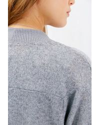 Silence + Noise - Gray Brushed Cardigan - Lyst