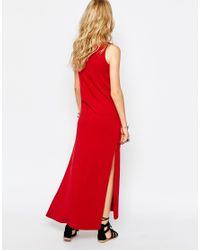 Glamorous | Black Roll Neck Maxi Dress With Side Splits | Lyst