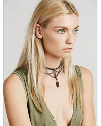 Free People - Metallic Regal Rose Womens Apsis Choker - Lyst
